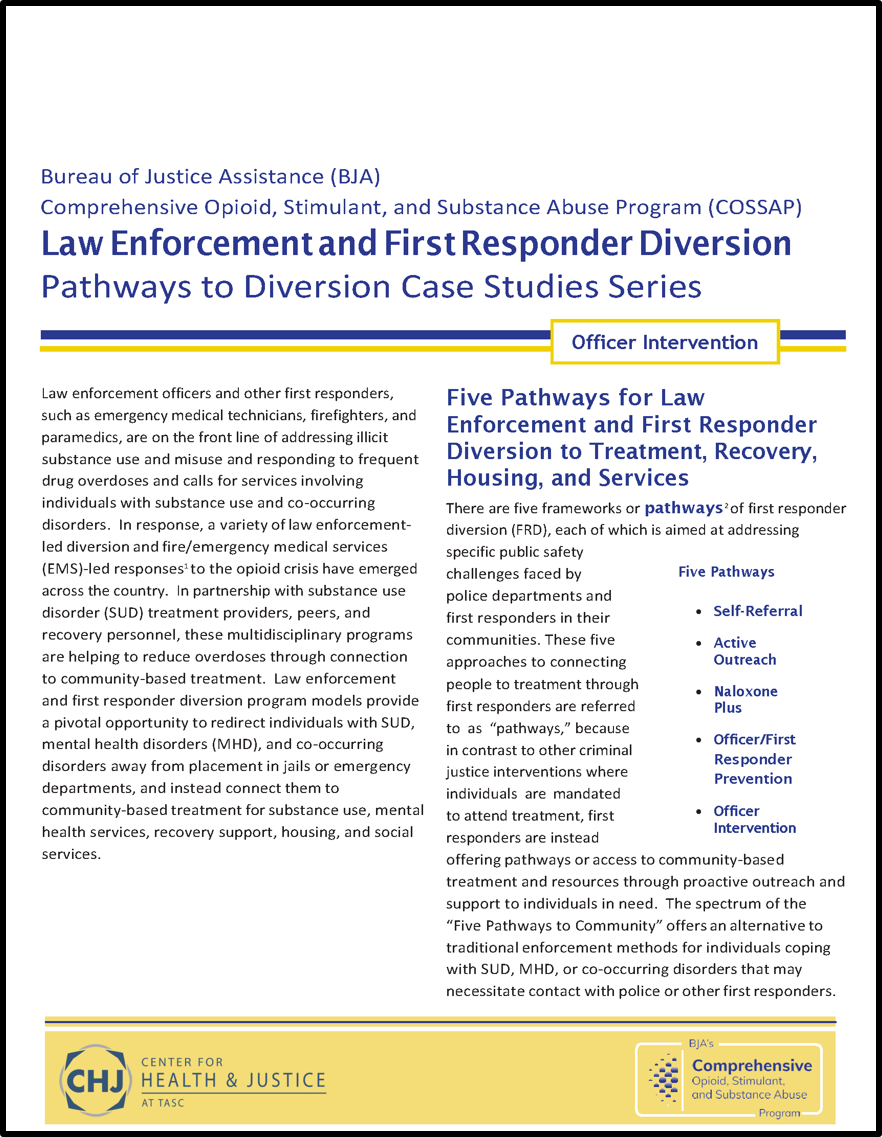 Pathways to Diversion Officer Intervention report cover