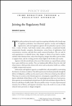 Crime Control Through Regulatory Approach Cover