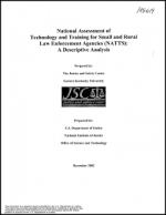 National Assessment Technology and Training Small Rural Agencies Cover