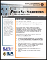 Project Safe Neighborhoods: Police-Corrections Partnerships Report Cover