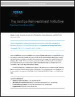 "First page of document ""The Justice Reinvestment Initiative"""