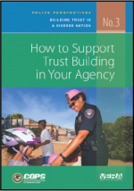"First page of document ""Police Perspectives: Building Trust in a Diverse Nation - No. 3 How to Support Trust Building in Your Agency"""