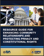 "First page of document ""Resource Guide for Enhancing Community Relationships and Protecting Privacy and Constitutional Rights"""