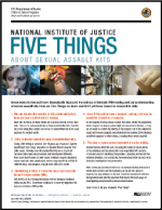 "Image of flyer ""Five Things About Sexual Assault Kits"""