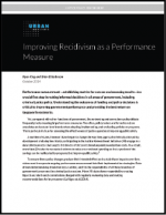 "First page of document ""Improving Recidivism as a Performance Measure"""