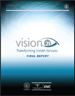 "First page of document, ""Vision 21: Transforming Victim Services Final Report"""