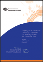"First page of document ""Targeting crime prevention: Identifying communities that generate chronic and costly offenders"""