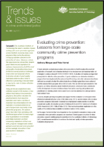 "First page of document ""Evaluating crime prevention: Lessons from large-scale community crime prevention programs"""