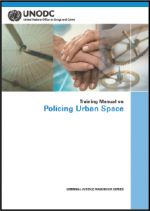 First page of Training Manual on Policing Urban Spaces