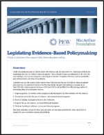 "First page of document ""Legislating Evidence-Based Policymaking"""
