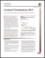 "First page of document ""Criminal Victimization, 2012"""