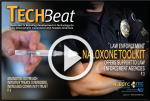 "Image of Tech Beat cover with ""play"" button on top of it."
