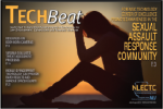 "Cover of ""Tech Beat."" Headline includes ""Sexual assault response community"""
