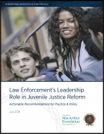 "First page of document ""Law Enforcement's Leadership Role in Juvenile Justice Reform: Actionable Recommendations for Practice & Policy"""