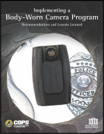 "First page of document ""Implementing a Body-Worn Camera Program: Recommendations and Lessons Learned"""