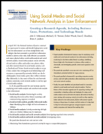 Using Social Media and Social Network Analysis Report Cover