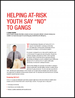 "First page of document ""Intimate Partner Violence""Helping At-Risk Youth Say ""No"" to Gangs"""