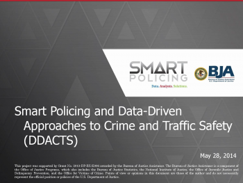 Data-Driven Approaches to Crime and Traffic Safety Webinar First Slide