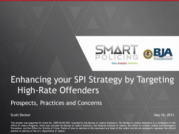 Targeting Offenders (May 2013) Webinar First Slide