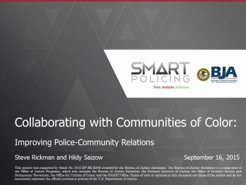 Collaborating with Communities of Color Webinar First Slide