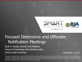 Focused Deterrence Webinar First Slide