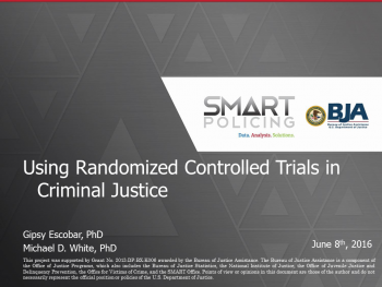 Using Randomized Controlled Trials Webinar First Slide