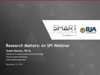 Research that Matters Webinar First Slide