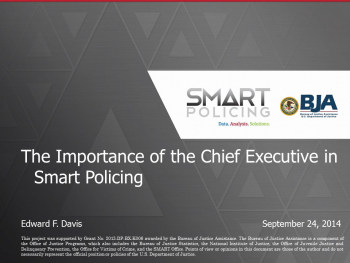 Smart Policing Executives Webinar First Slide