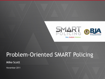 Problem Oriented Policing Webinar First Slide