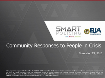 Community Responses to People in Crisis Webinar