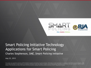 Technology and Policing Webinar First Slide